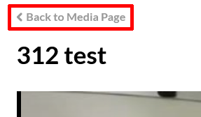 A highlighted screenshot depicting the link that goes back to the media page.