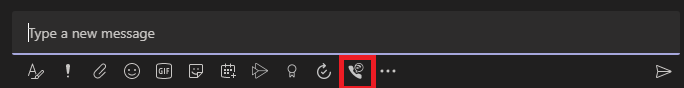 A Teams chat window with the Jabber icon highlighted.