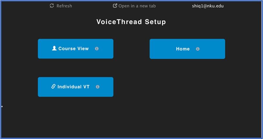 Voice Thread Setup