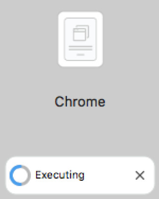 Download of Chrome from Self Service on a Mac.