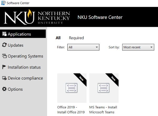 The Software Center application in Windows.